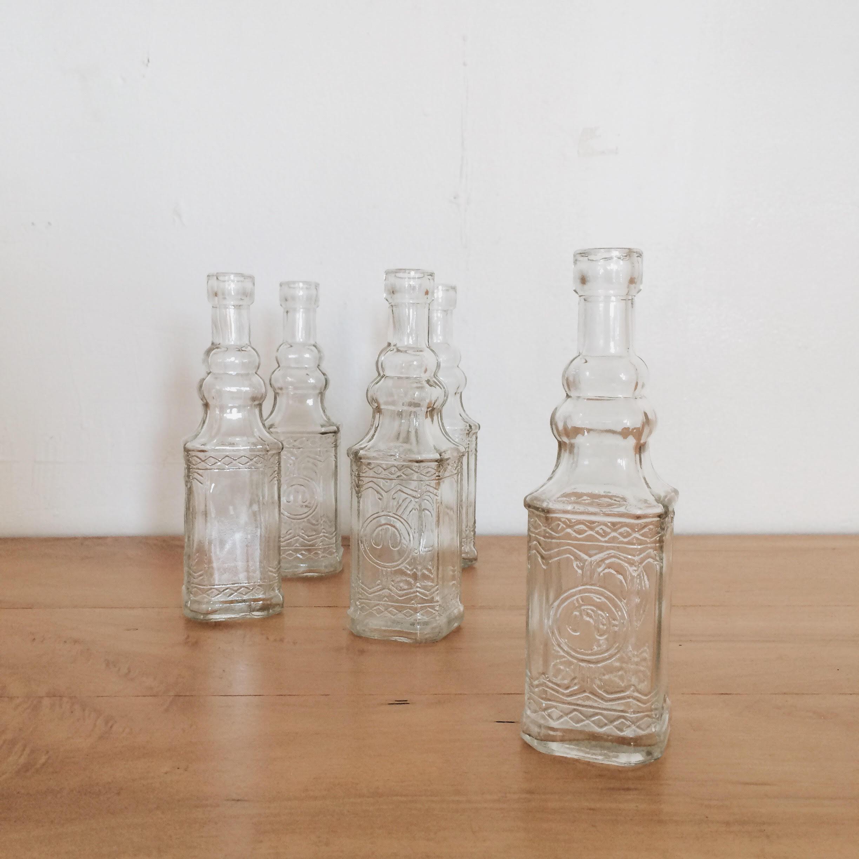 Rentals floraison vintage clear glass bud vases 12 15 x 5 reviewsmspy