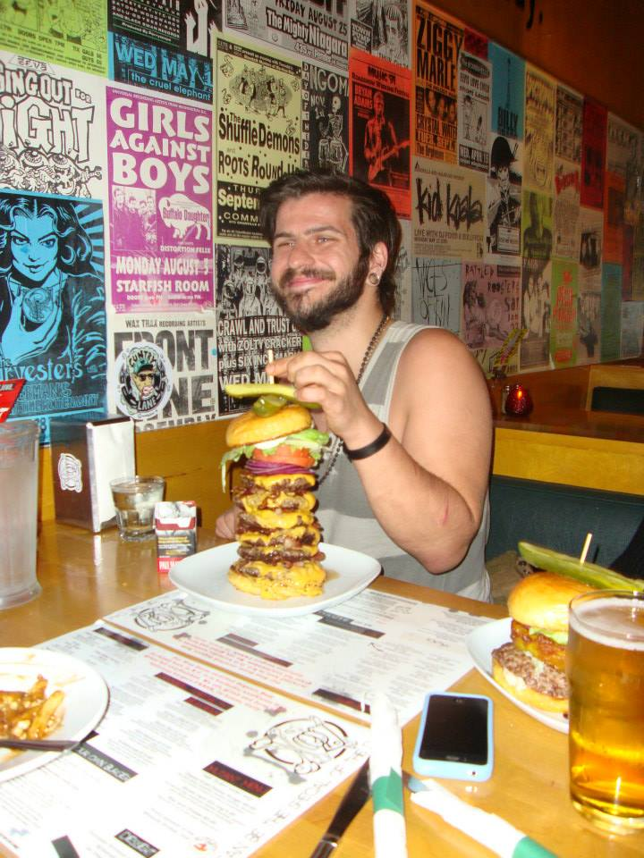 Matthew just could not get enough of THE BEAST! He demolished that tower of a burger in 17 minutes!!!