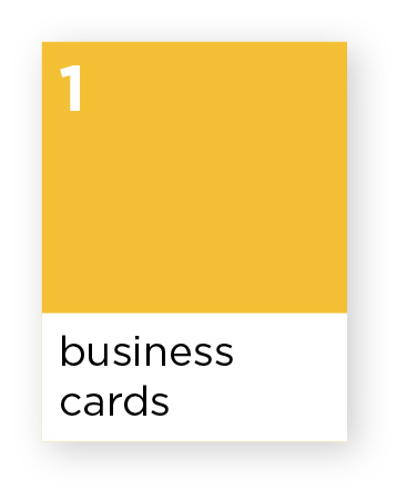 Business card pricing and information