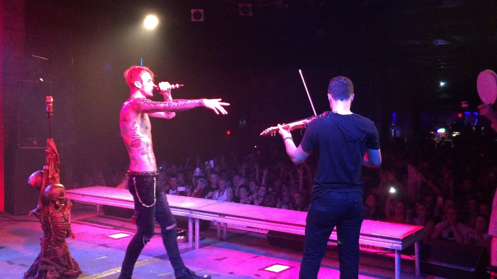 On stage with MGK -