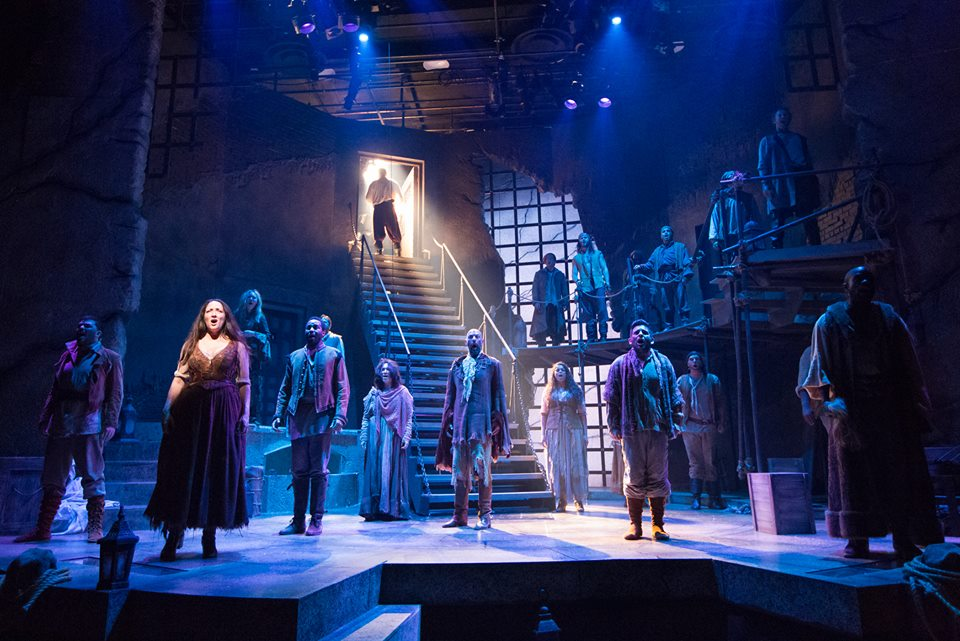 Tamra Hayden and the cast of Man of La Mancha (photo by Mark Garvin)