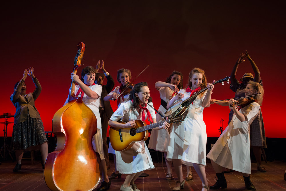 The cast of The Goree All-Girl String Band, directed by Ashley Brooke Monroe. (© Shira Friedman Photography)