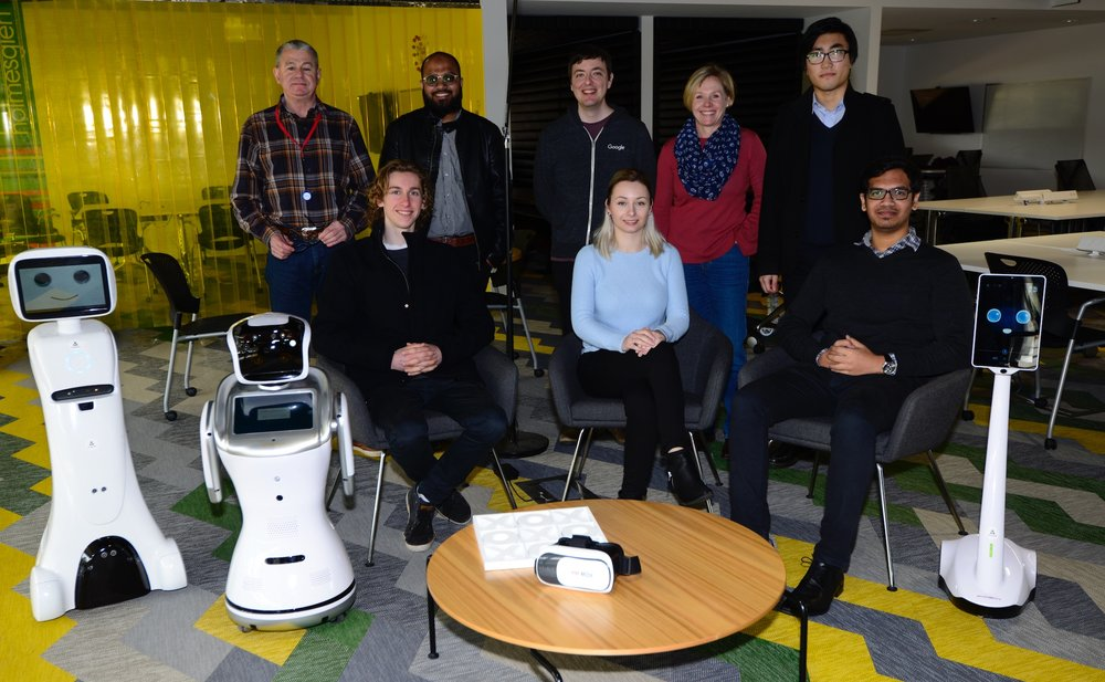 Back Row Left to Right :  Anton, Ahmed, Tom (friend), Nicci, Zack . Front Row Left to Right:  Amy, Sanbot, Cas, Stella, Ram, Padb  ot . Not present:   Ketan, Jayson, Veena, Umaid .