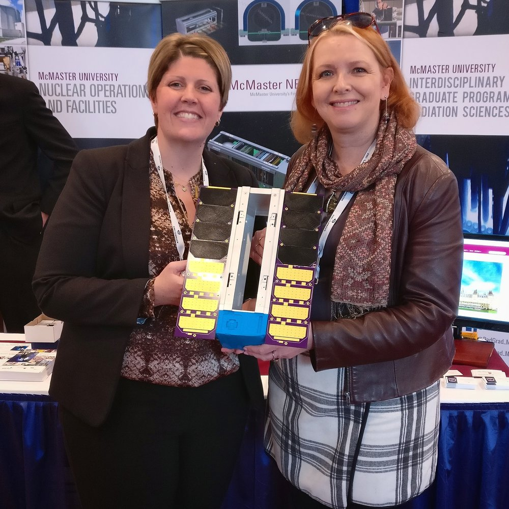 Dr. Karin Stephenson, Manager Commercial Operations at McMaster Nuclear Reactor, and Dr. Fiona McNeill, Director of Radiation Sciences Graduate Program at McMaster University