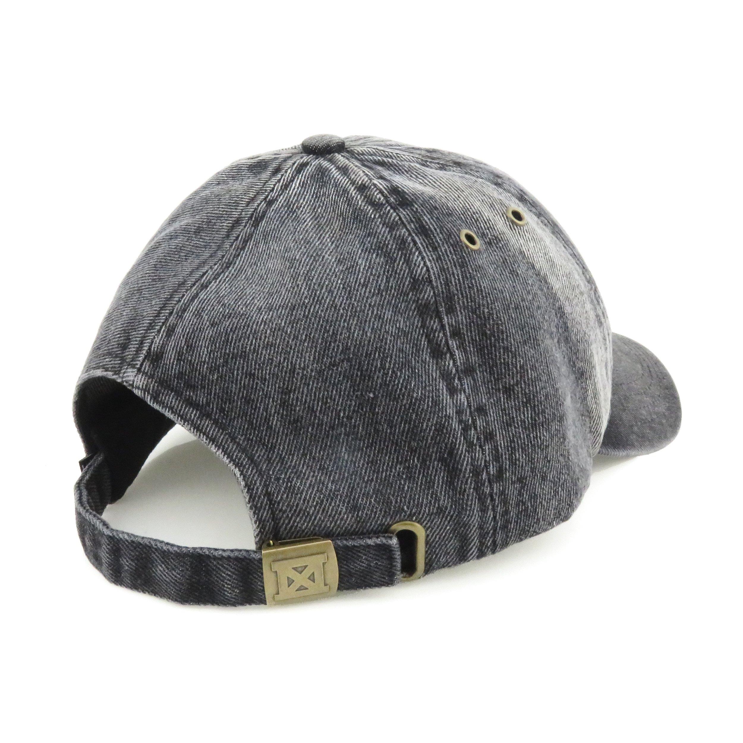 637c74d753c Made Urban Apparel KC Dad Hat - Black Denim — Made in Kansas City