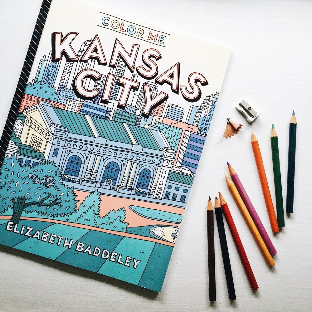 Elizabeth Baddeley Illustration Color Me Kansas City Coloring Book