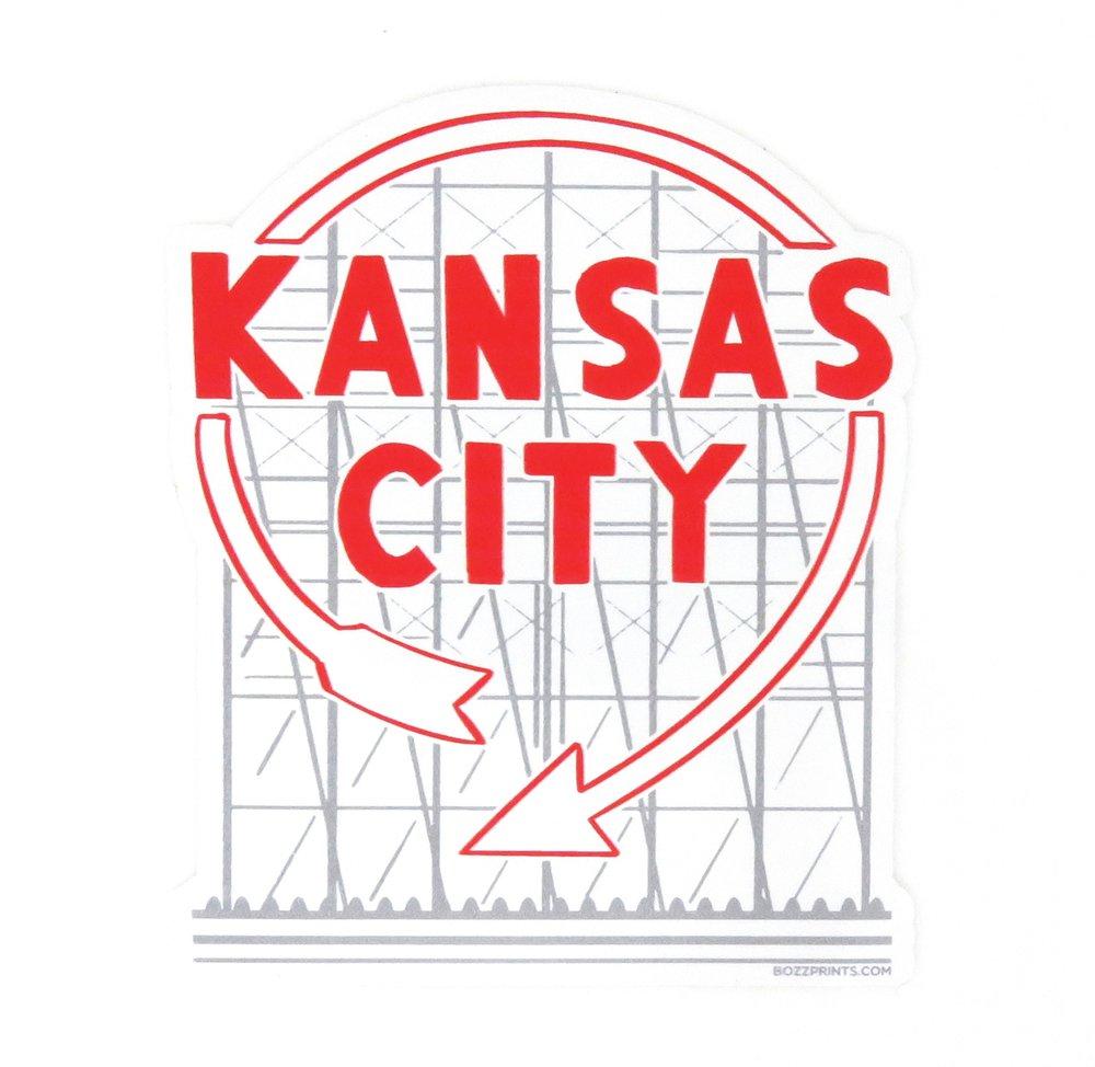 Bozz Prints Kansas City Western Auto Sticker Made In Kansas City