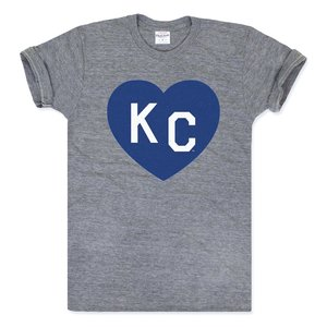beff2ede9ecf Charlie Hustle KC Heart Tee - Grey Royal Blue
