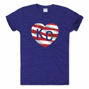24c555d66ac Charlie Hustle KC Heart Tee - USA Flag