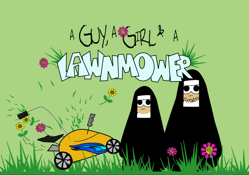 A Guy, A Girl and A Lawnmower