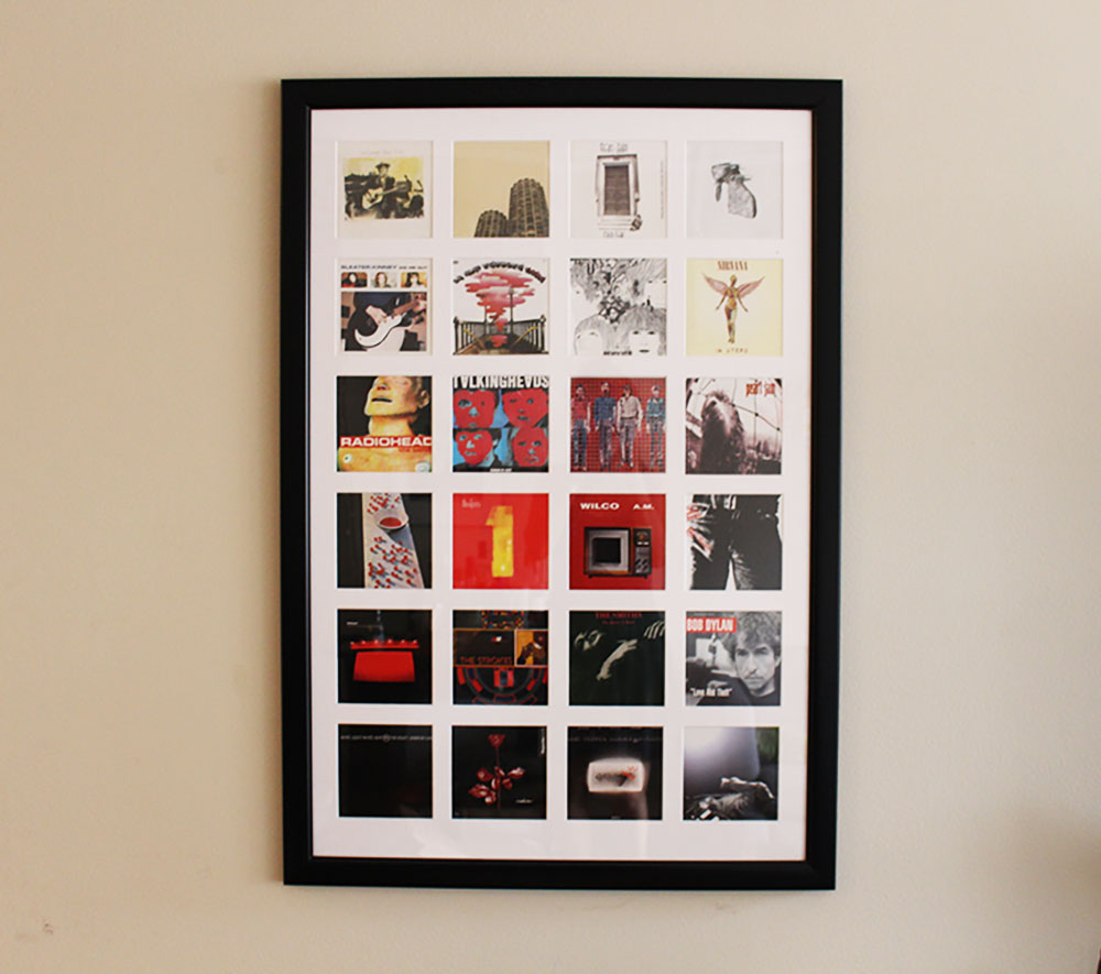 Poster frames with glass