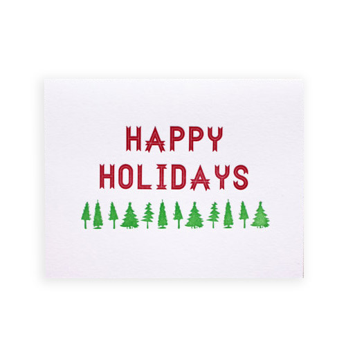 Simply Gifted:  Classy holiday card by Typecase Industries.