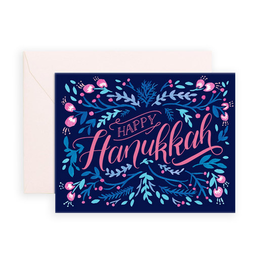Simply Gifted: Classy Hanukkah card by Crumple and Toss.