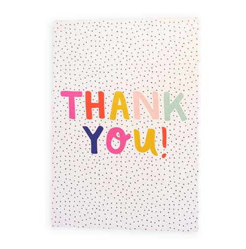 Simply Gifted: Thank you card roundup featuring this card by Rosie Caitlin.