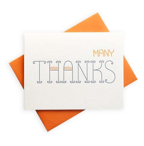 Simply Gifted: Thank you card roundup featuring this card by Press Bound.