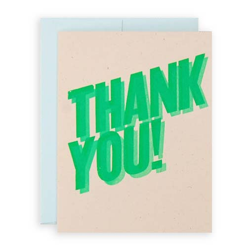 Simply Gifted:  Thank you card roundup featuring this card by Black Shell Press.