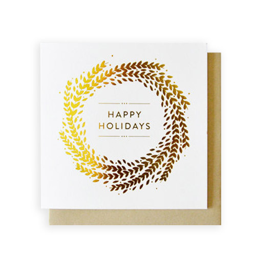Simply Gifted:  Classy holiday card by The Print Room.