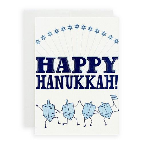 Simply Gifted:  Classy Hanukkah card by Hello Lucky.