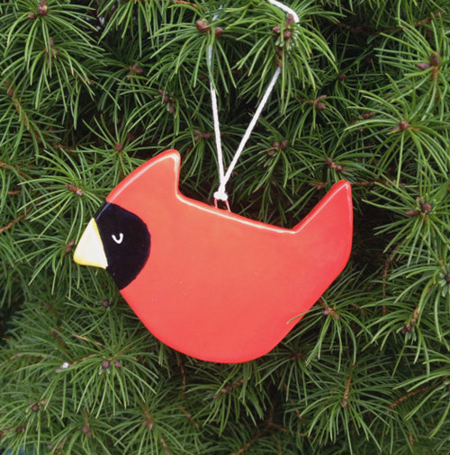 Simply Gifted:  Ceramic cardinal ornament by Mint House.