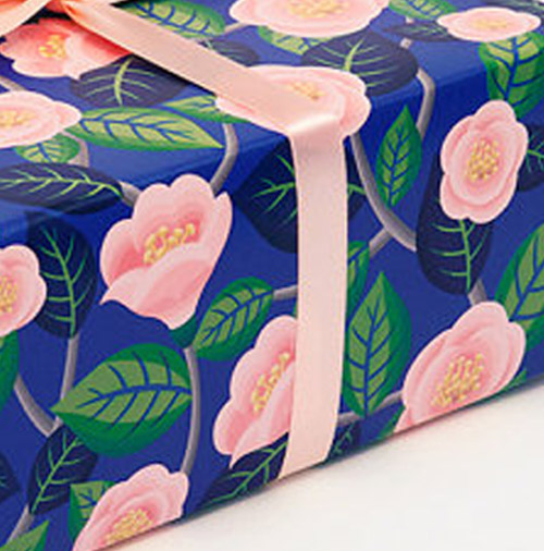 Simply Gifted:  Wrapping paper from Clap Clap Design.