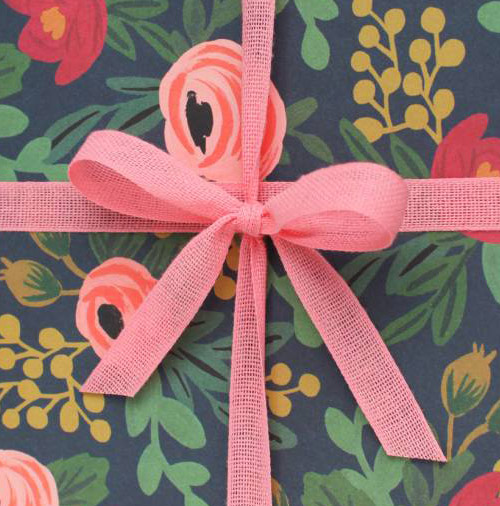 Simply Gifted:  Wrapping paper from Rifle Paper Co.