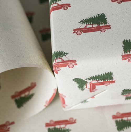 Simply Gifted: Wrapping paper from Smock Paper. Simply Gifted: Wrapping paper from Clap Clap Design.