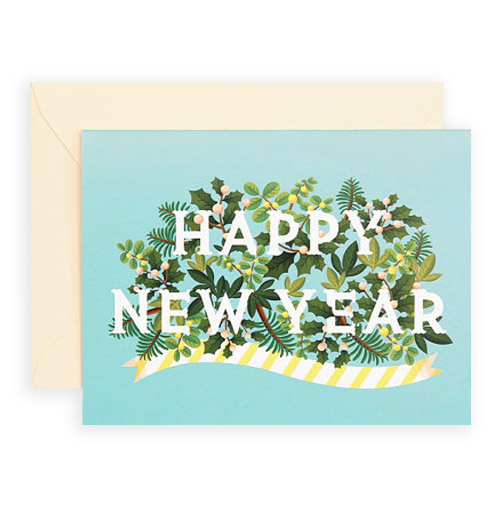 Simply Gifted:  Happy New Year card by Clap Clap Design.