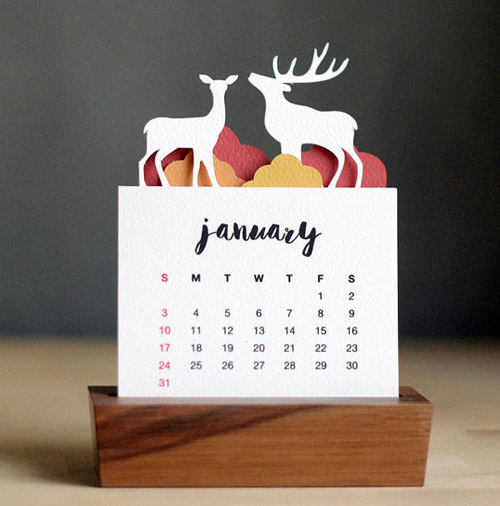 Simply Gifted:  Desk Calendar by Purna Project.