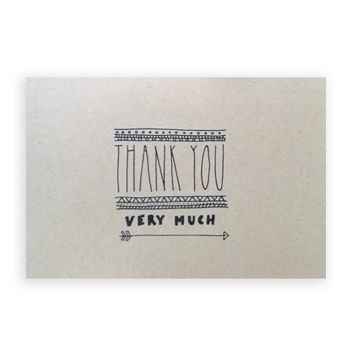 Simply Gifted: Thank You Card set by Champaign Paper.