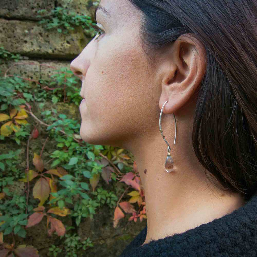 stecchi neri earrings –