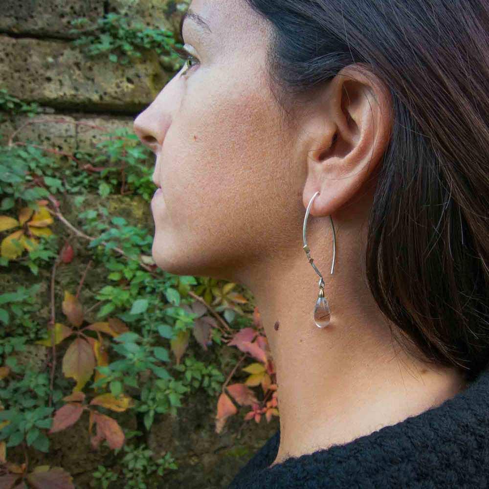 stecchi neri earrings