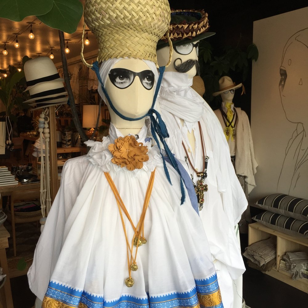 My nido necklaces in the window of the RTH2 shop (529 La Cienega blvd., L.A., California)