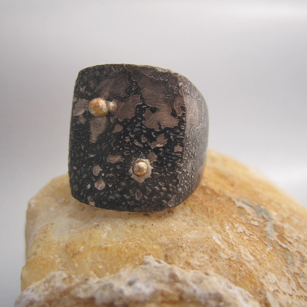 corallo nero distrutto ring -