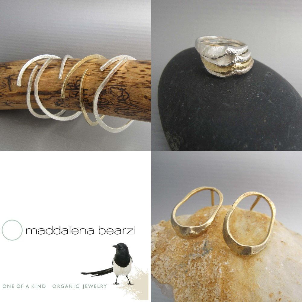 The ONDA jewelry collection handmade by Italian designer Maddalena Bearzi