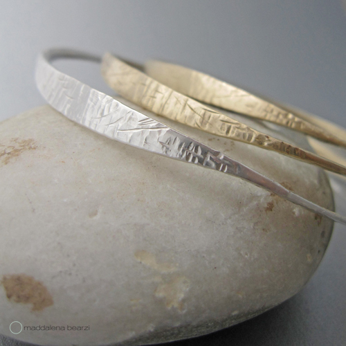 The one of a kind, handmade marea alta bangles from the new fall-winter collection