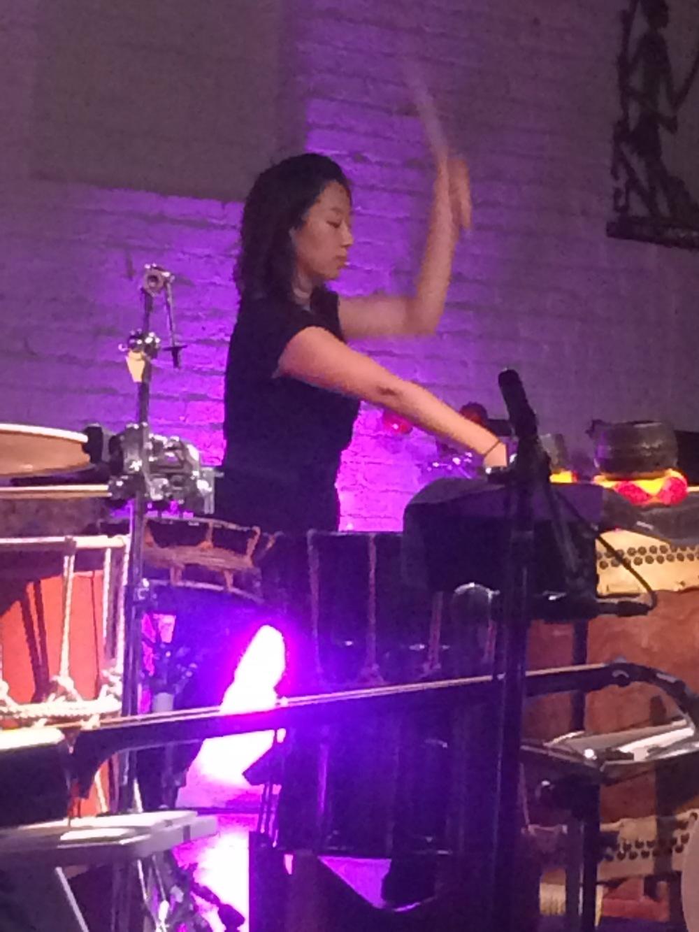 Playing taiko drums with  Kaoru Watanabe  & Neo Ensemble