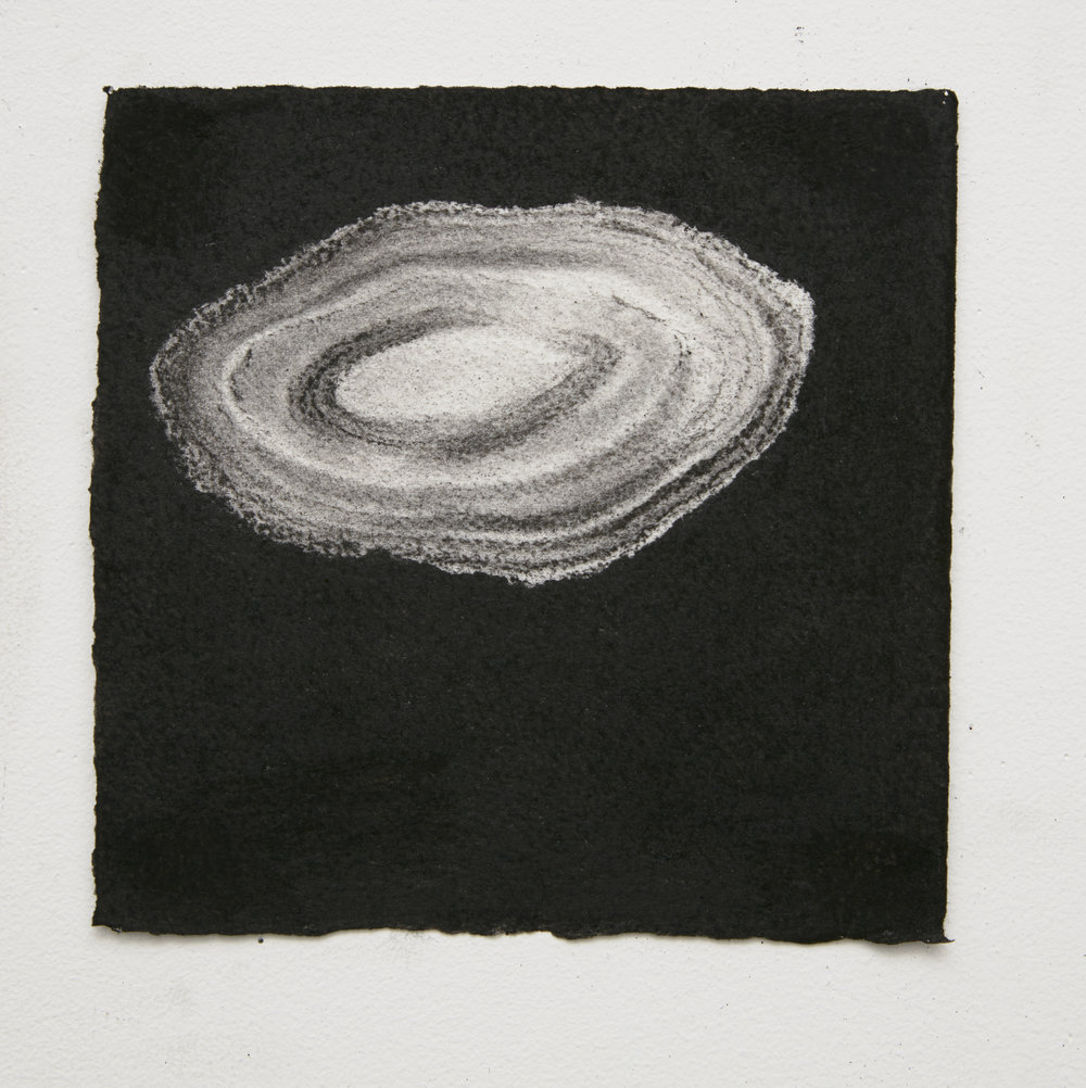 Gemstone #3, 2015, 17.5x17.5cm, charcoal on paper