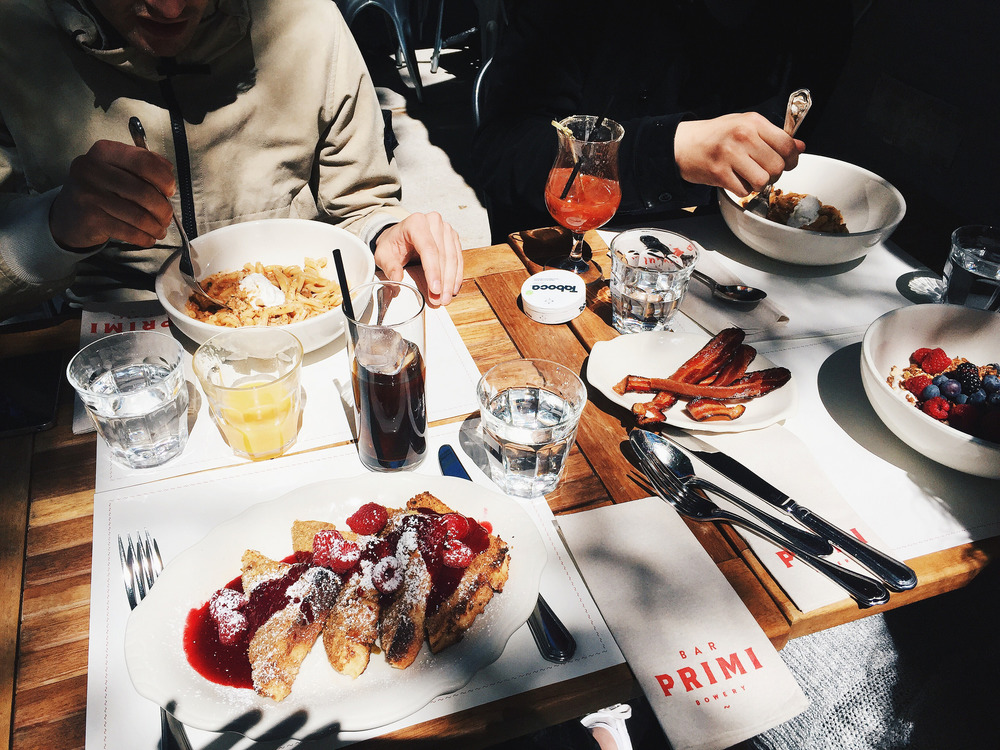 Brunch with Ludde, Louis and Hana at Bar Primi in New York.
