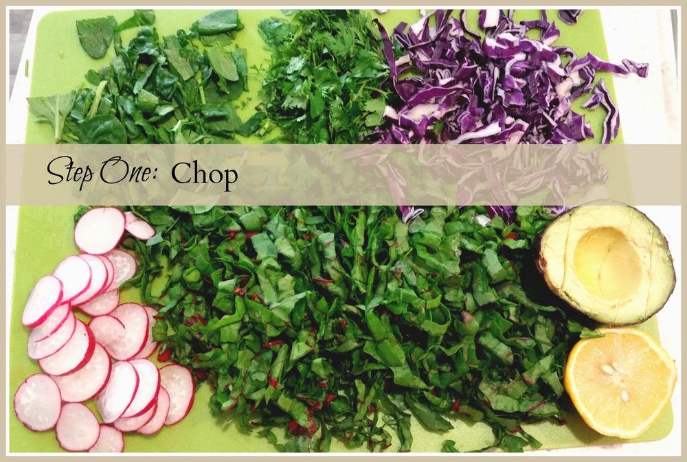 Swiss Chard Seasonal Salad - Happy Healthy Souls