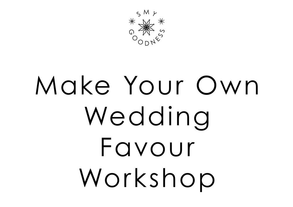 Wedding Favour Workshops