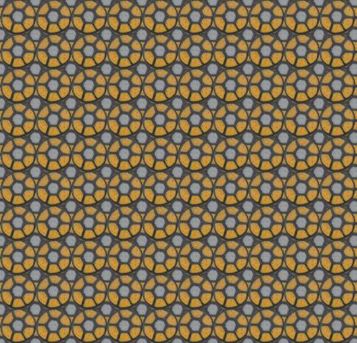 grey gold wheel print