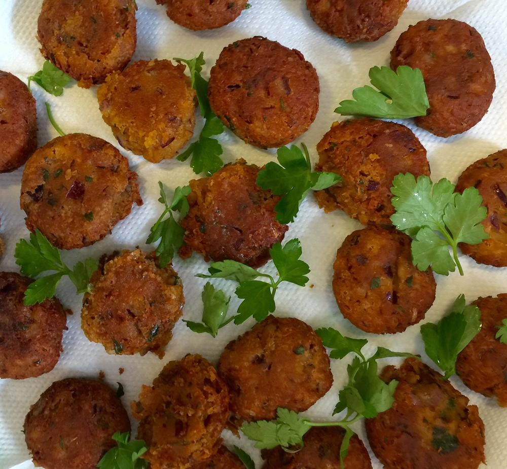 cooked falafel