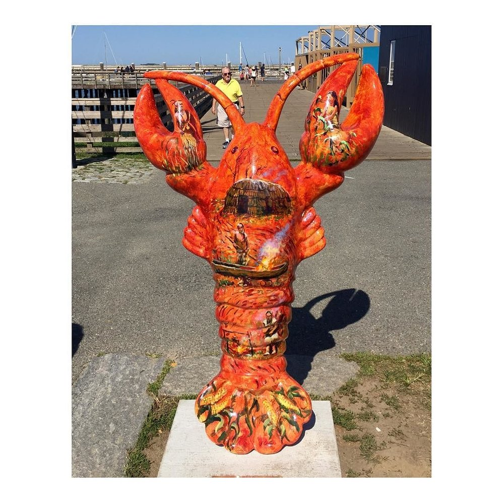 Mayflower Lobster with Scenes of the Wampanoag