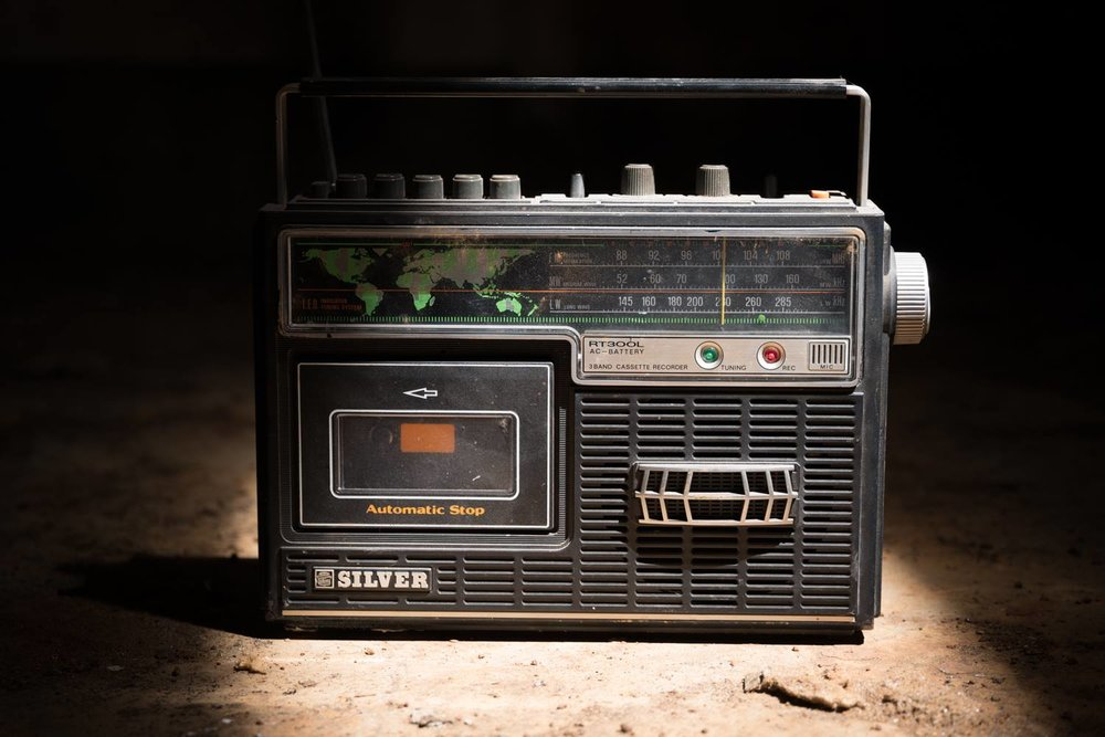 Interwebs killed the radio star. © Photography by  Mike Wolff