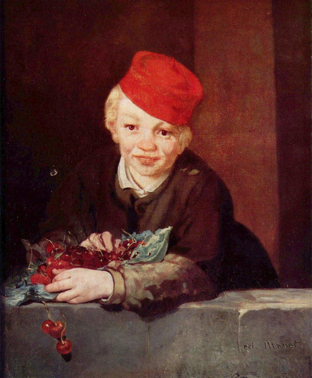 Edouard Manet - Boy with Cherries, 1859.