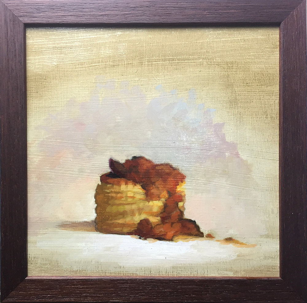 Lizet Dingeman's Vol-au-Vent, 23x23cm oil on board IG -  @lizetdingemansartist  web -  www.lizetdingemans.nl