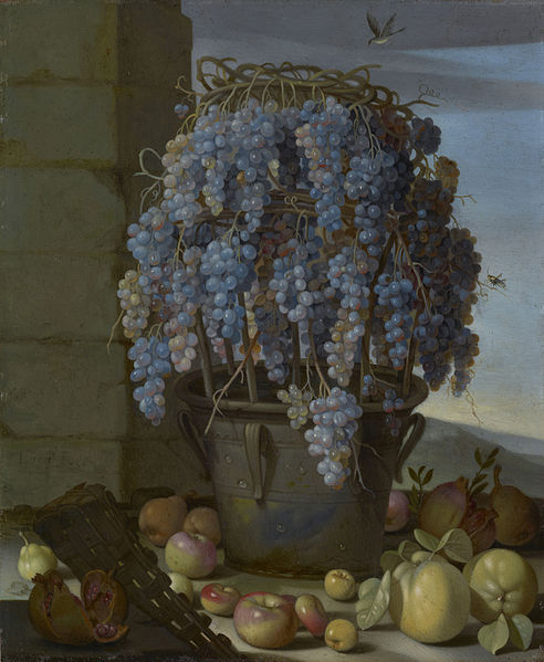 Still Life with Grapes and other Fruit Luca Forte, c. 1630