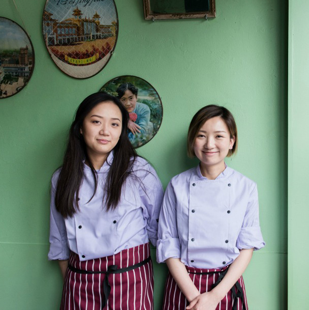 Peiran Gong and TongTong Ren - owners and chefs of Chinese Laundry Room