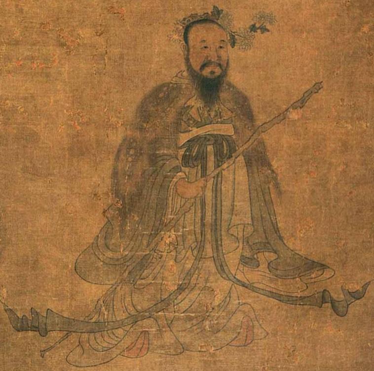 Qu Yuan (340–278 BC) painting by Chen Hongshou (1598-1652)