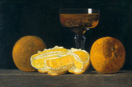 Still Life with Oranges and Goblet of Wine (c. 1880-1890s, John Frederick Peto (1854 - 1907)